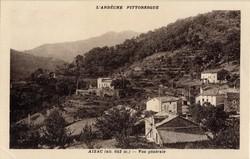 Aizac (alt. 642 m. Ardèche) : Vue générale