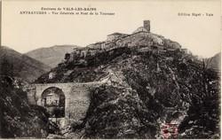 Environs de Vals-les-Bains Antraygues (Ardèche) : Vue générale et Pont de la Tourasse