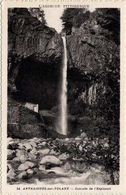 Antraigues-sur-Volane (Ardèche) : Cascade de l'Espissart