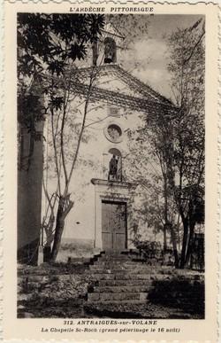 Antraigues-sur-Volane (Ardèche) : La Chapelle St-Roch (grand pélerinage le 16 août)