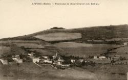 Affoux (Rhône) : Panorama du Mont Crepver (alt. 850 m.)