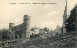 Chevinay (Rhône) : Ensemble du château et de la chapelle