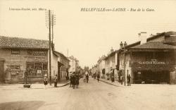 Belleville (Rhône) : Rue de la Gare
