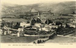 Bourg-de-Thizy (Rhône) : Vue générale