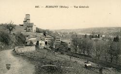 Albigny-sur-Saône (Rhône) : Vue générale.