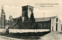 Cailloux-sur-Fontaines (Rhône) : L'église et la place