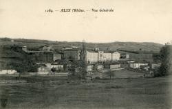 Alix (Rhône) : Vue générale.