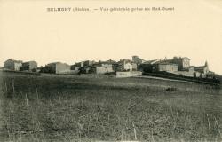 Bemont d'Azergues (Rhône) : Vue générale prise au Sud-Ouest