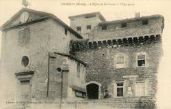 Charnay (Rhône) : L'église et les postes et télégraphes