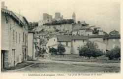 Châtillon (Rhône) : Vue prise de l'Avenue de la Gare