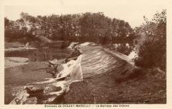 Environs de Chazay-Marcilly (Rhône) : Le barrage des Chères