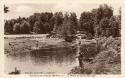 Environs de Chazay-Marcilly (Rhône) : La pêche au grand barrage