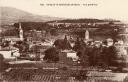 Chazay-d'Azergues (Rhône) : Vue générale