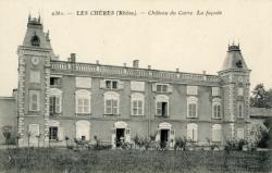 Les Chères (Rhône) : Château du Carre, la façade