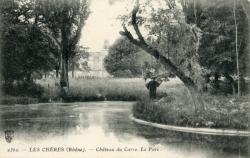 Les Chères (Rhône) : Château du Carre, le parc