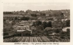 Charly (Rhône) : Vue générale (haut et bas Charly)