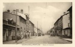 Champagne-au-Mont-d'Or (Rhône) : Avenue de Lanessan
