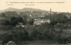 Champagne-au-Mont-d'Or (Rhône) : Vue prise de Champagne et la Châtaigneraie