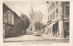 Champagne-au-Mont-d'Or (Rhône) : Place Ludovic-Monnier