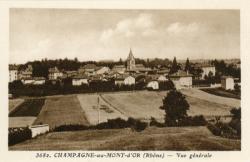 Champagne-au-Mont-d'Or (Rhône) : Vue générale