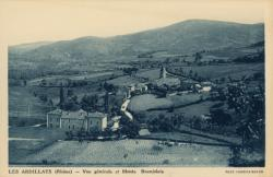 Les Ardillats (Rhône) : Vue générale et monts Beaujolais