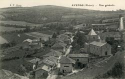 Avenas (Rhône) : Vue générale