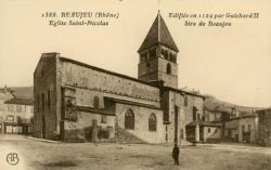 Beaujeu (Rhône) : Eglise Saint-Nicolas