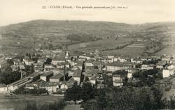 Cours-la-Ville (Rhône) : Vue générale panoramique (alt. 600 m.)