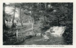 """Cours-la-Ville (Rhône) : La Rivière """"la Trambouze"""" - Sous-bois et cascade du Valissant"""