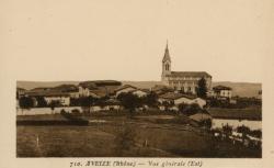 Aveize (Rhône) : Vue générale (Est)