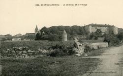Bagnols (Rhône) : Le Château et le village