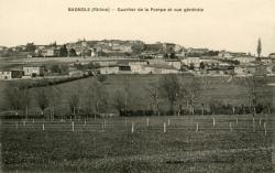 Bagnols (Rhône) : Quartier de la Pompe et vue générale