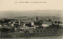 Bagnols (Rhône) : Vue générale prise des Carrières