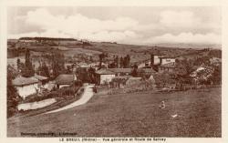 Le Breuil (Rhône) : Vue générale et route de Sarcey