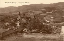 Chamelet (Rhône) : Vue prise du Calvaire