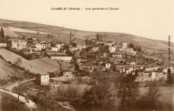Chamelet (Rhône) : Vue générale de l'Ouest