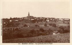 Bessenay (Rhône) : Vue générale prise de Ripan