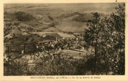 Brullioles (Rhône), alt. 570 m : Vue de la pierre de Pothu
