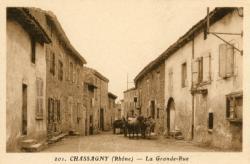 Chassagny (Rhône) : La Grande-rue