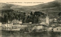 Claveisolle (Rhône) : Vue générale (coté Nord-Ouest)