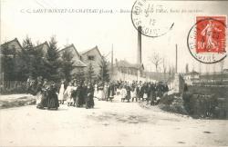 Saint-Bonnet-le-Château (Loire) : Boulevard et Usine Vallat, Sortie des ouvrières