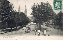 Saint-Chamond (Loire) : L'Avenue de la Gare