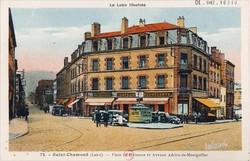 Saint-Chamond (Loire) : Place de Plaisance et Avenue Adrien-de-Montgolfier