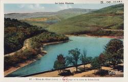 Rive-de-Gier (Loire) : Le Barrage et la route de Sainte-Croix