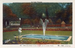 Rive-de-Gier (Loire) : Un coin du Jardin Public
