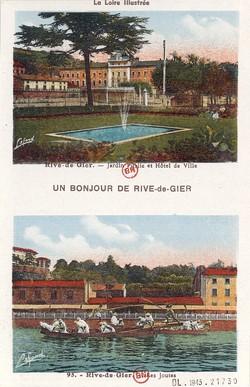 Rive-de-Gier (Loire) : Jardin public - Les Joutes