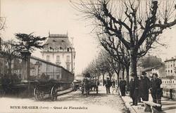 Rive-de-Gier (Loire) : Quai de Fleurdelix
