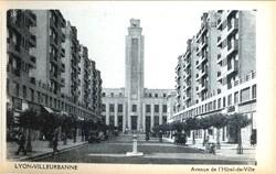 Lyon-Villeurbanne : Avenue de l'Hôtel-de-Ville