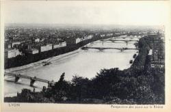 Lyon : Perspective des ponts sur le Rhône