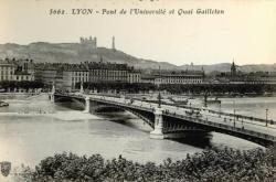 Lyon : Pont de l'Université et Quai Gailleton